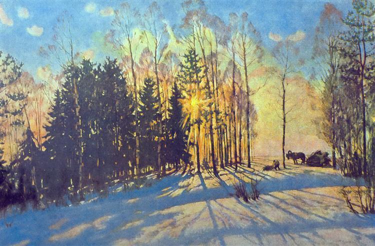 The Winter Sun. Ligachevo, 1916 - Konstantin Yuon