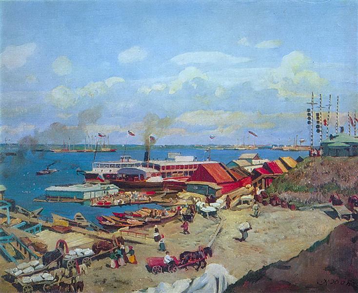 Volga's pierces, 1911 - Konstantin Yuon