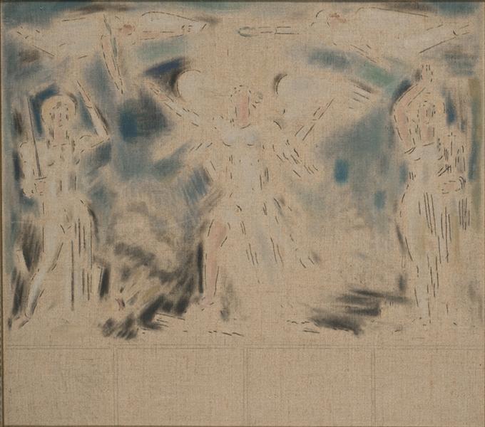 Allegorical scene, 1945 - 1955 - Konstantinos Parthenis