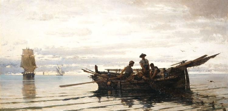 Collecting the Nets, 1871 - Konstantinos Volanakis