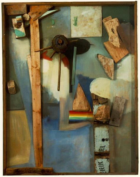 Merzpicture with Rainbow, c.1939 - Kurt Schwitters