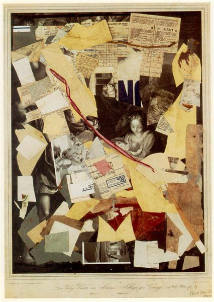 The Holy Night by Antoni Allegri, known as Correggio..., 1947 - Kurt Schwitters