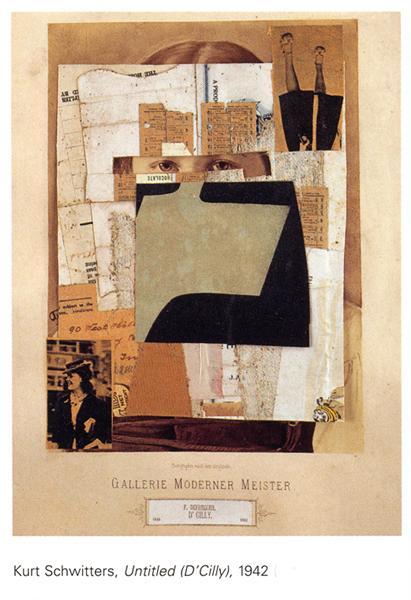 Untitled (D'Cily), 1942 - Kurt Schwitters