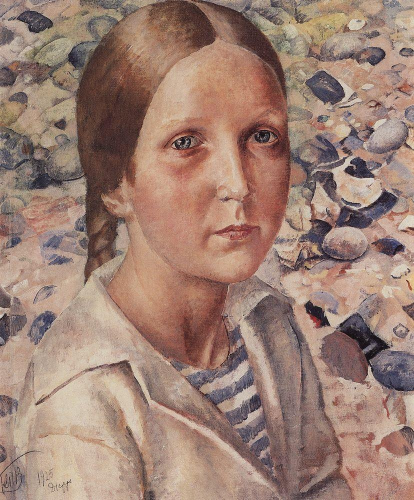 Девочка на пляже - Кузьма Петров-Водкин - WikiArt.org