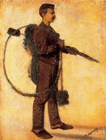 Chimney-sweeper (Carrier of Luck) - Laszlo Mednyanszky