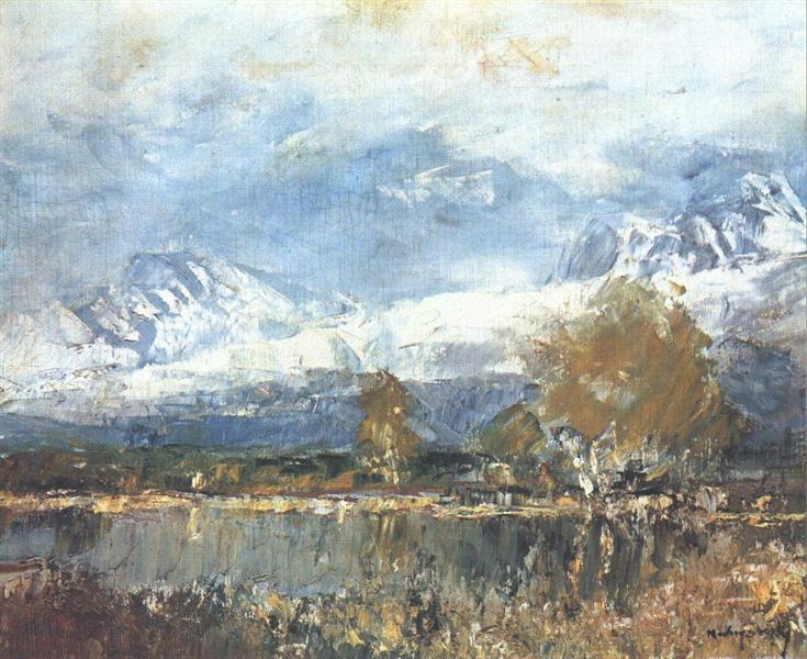 Lake in the Mountains, 1899 - Laszlo Mednyanszky