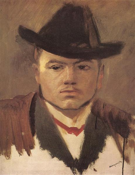 Peasant Boy with Hat (study) - Laszlo Mednyanszky