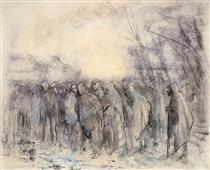 Prisoners Marching Off - Laszlo Mednyanszky