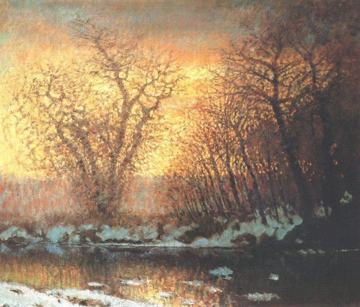 Snow-melting, 1899 - Laszlo Mednyanszky