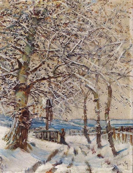 Trees with Hoar-frost, 1892 - Laszlo Mednyanszky