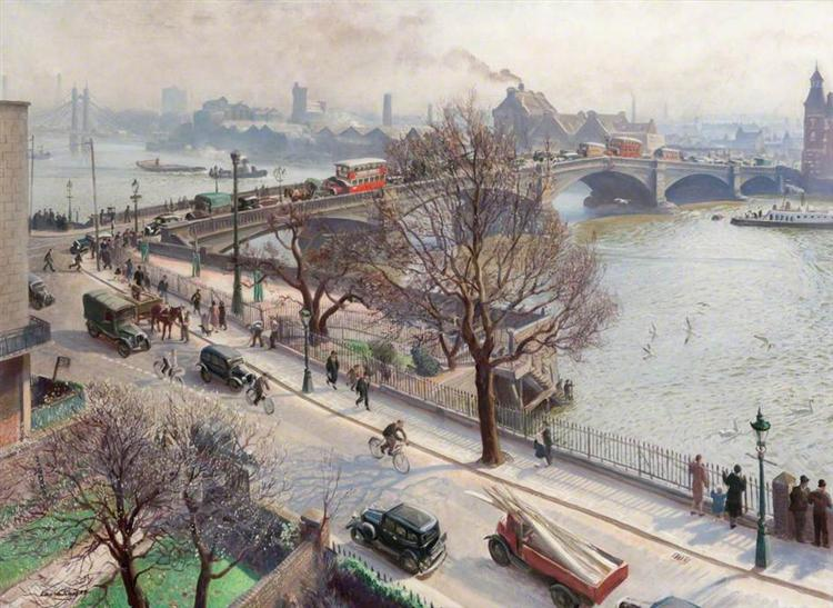 Chelsea Embankment - Laura Knight