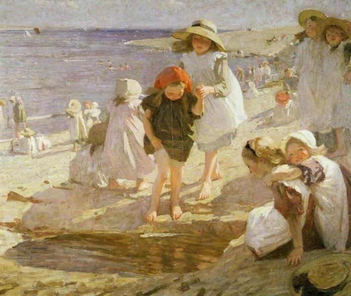 The Beach, 1909 - Laura Knight
