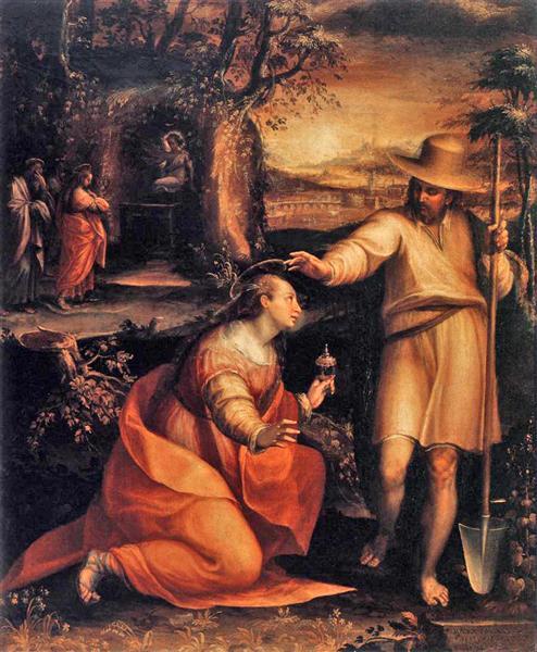 Noli me tangere, 1581 - Лавиния Фонтана