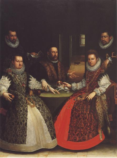 Portrait of the Coozzadini Family, 1584 - Лавиния Фонтана