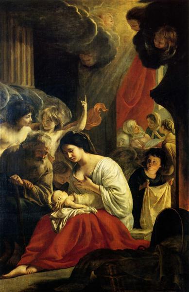 Birth of the Virgin, c.1645 - Le Nain (Irmãos Le Nain)