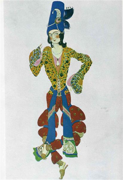 Costume for Nijinsky, 1910 - Leon Bakst
