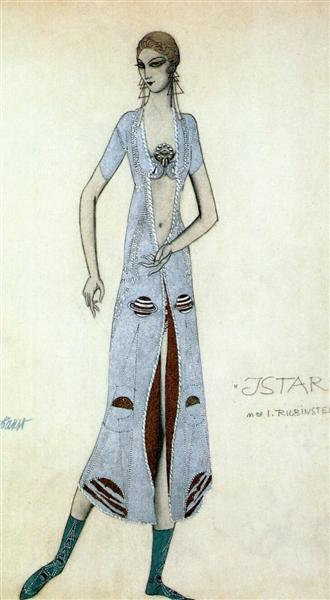Istar Ida Rubinstein as Istar, 1924 - Léon Bakst