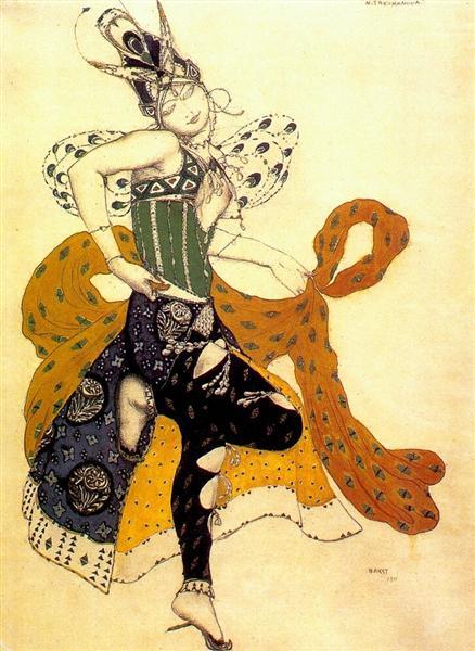 La peri Natasha Trouhanova as the Peri, 1911 - Leon Bakst