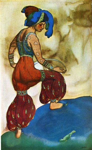 Scheherazade la sultane bleue, 1910 - Leon Bakst