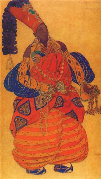 Scheherazade the chief eunuch, 1910 - Leon Bakst