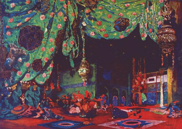 Set Design for Scheherazade, 1910 - Léon Bakst