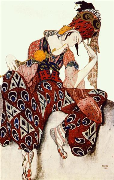 TheBallets Russesprogram published byComoediaillustré.NijinskyinPéri, 1911 - Leon Bakst