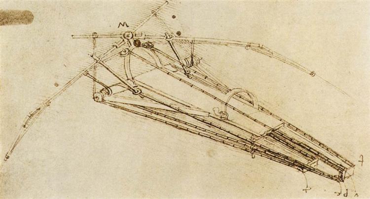 Design for a flying machine, c.1488 - Leonardo da Vinci