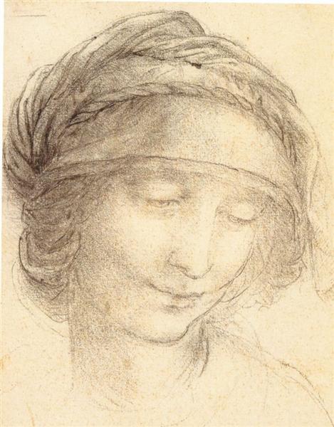 Head of Saint Anne, c.1510 - Leonardo da Vinci