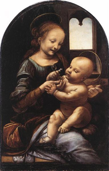 Madonna with a Flower (Madonna Benois), c.1478 - Leonardo da Vinci