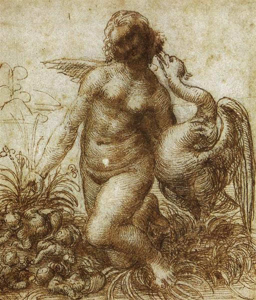 Study for the Kneeling Leda, c.1506 - Leonardo da Vinci