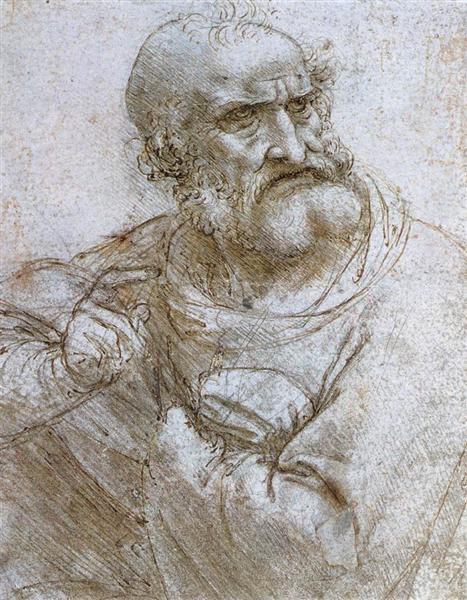 Study for the Last Supper, c.1495 - Leonardo da Vinci