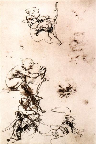 Study of a child with a cat, c.1478 - Leonardo da Vinci