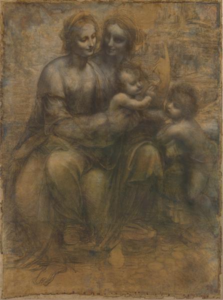 The Virgin and Child with Saint Anne and Saint John the Baptist, c.1499 - Leonardo da Vinci