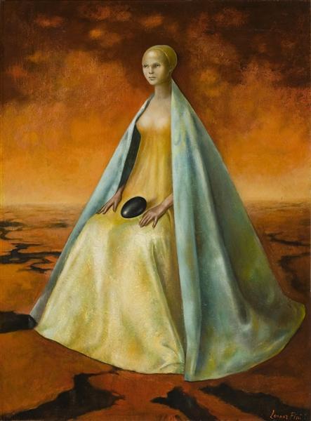 La Guardiana del Huevo negro, 1955 - Leonor Fini
