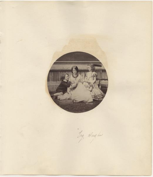 Tryphena Hughes and her children Arthur, Amy, and Agnes, 1864 - Lewis Carroll