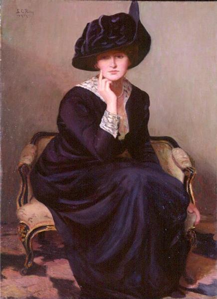 The Black Hat, 1914 - Lilla Cabot Perry