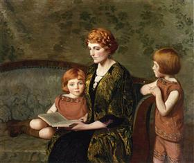 The Story Hour - Lilla Cabot Perry