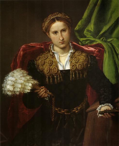 Portrait of Laura da Pola, wife of Febo da Brescia, c.1543 - Lorenzo Lotto