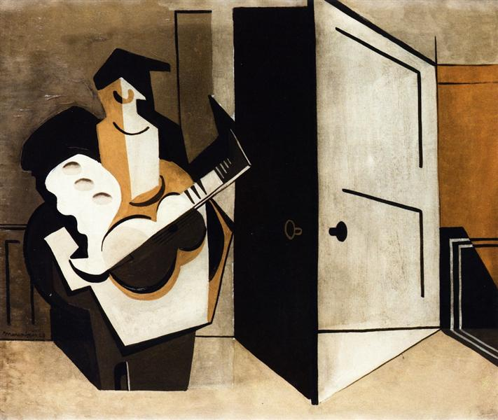 Musician in an Interior, 1929 - Louis Marcoussis