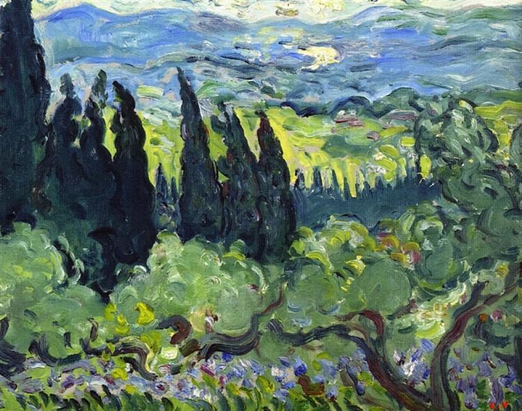 Italian Landscape, Cypresses, 1902 - Louis Valtat