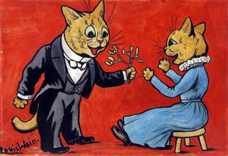 MISTLETOE FOR YOU - Louis Wain