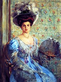 Portrait of Eleonore von Wilke, Countess Finkh - Lovis Corinth