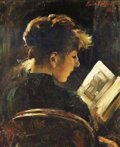 Reading Woman, 1888 - Ловис Коринт