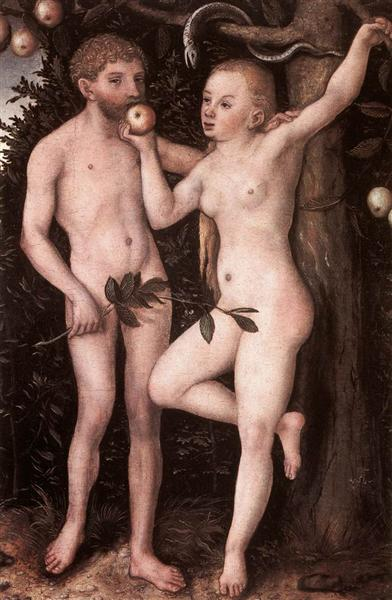 Adam and Eve, c.1538 - Lucas Cranach the Elder