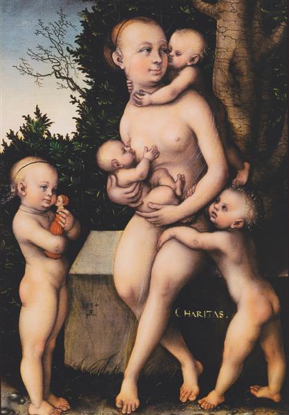 Charity, 1534 - Lucas Cranach der Ältere