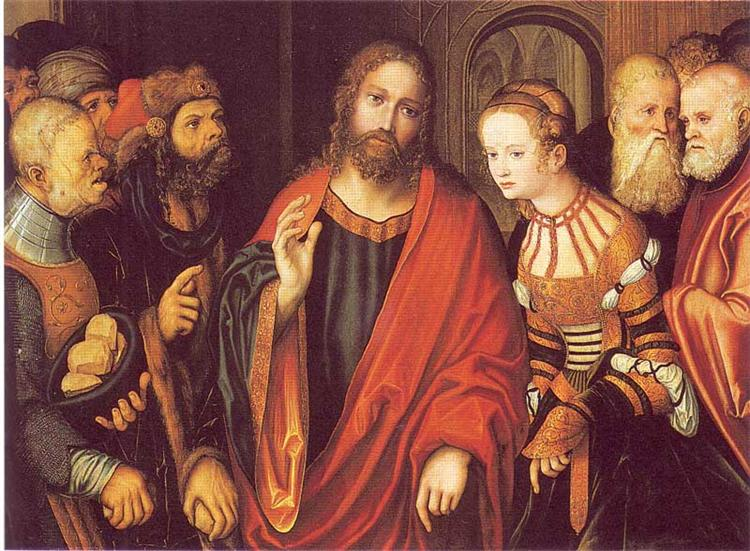 Christ and the Adulteress, 1520 - Lucas Cranach der Ältere
