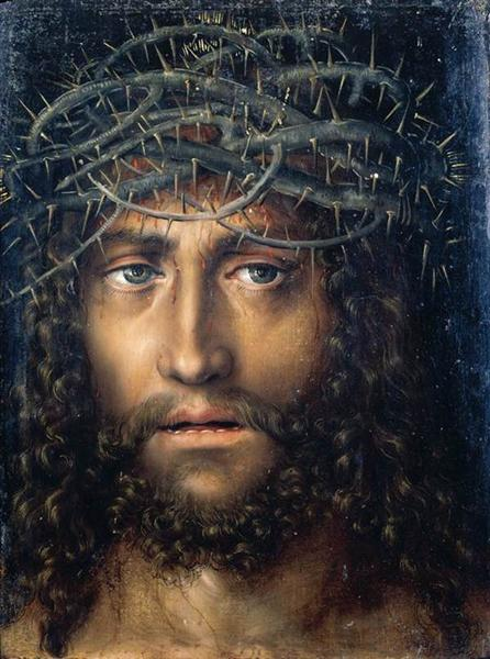 Head of Christ Crowned with Thorns, 1510 - Lucas Cranach the Elder