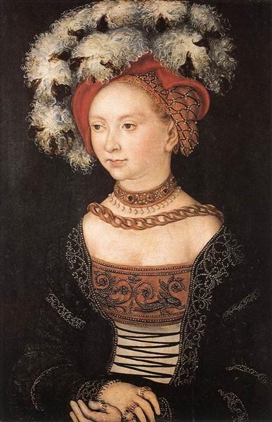 Portrait of a Young Woman, 1530 - Lucas Cranach the Elder