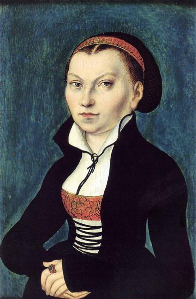 Portrait of Katharina von Bora, c.1530 - Lucas Cranach der Ältere