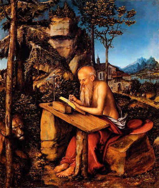 Saint Jerome, c.1515 - Lucas Cranach der Ältere